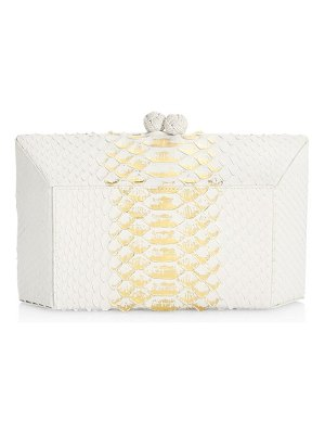 Nancy Gonzalez gramercy python box clutch