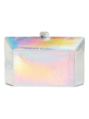 Nancy Gonzalez grammercy genuine snakeskin box clutch