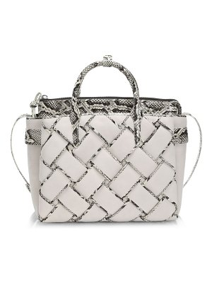 Nancy Gonzalez medium cristie woven leather satchel