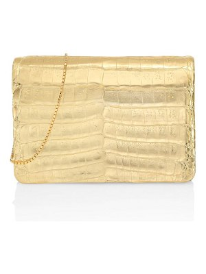 Nancy Gonzalez metallic crocodile crossbody bag