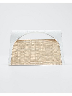 Nancy Gonzalez Sammy Small Keyhole Crocodile/Linen Clutch Bag