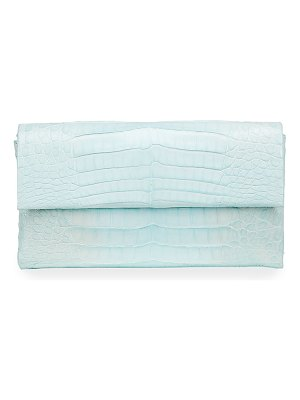 Nancy Gonzalez Simple Flap Crocodile Clutch Bag