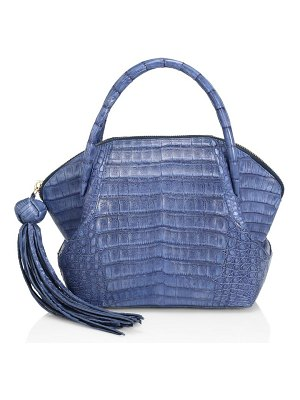 Nancy Gonzalez small dillion crocodile bowler bag