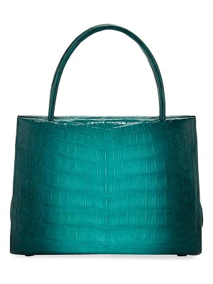 Nancy Gonzalez Wallis Mini Ombre Crocodile Top Handle Bag