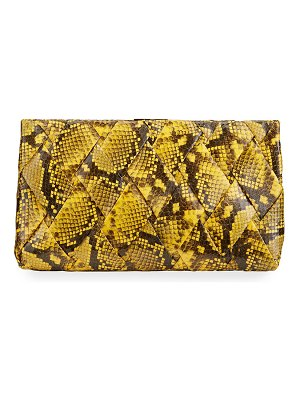Nancy Gonzalez Woven Large Snakeskin Clutch Bag