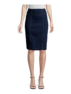 Nanette Lepore high-waist denim pencil skirt