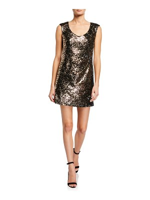 Nanette Lepore Leopard Sequin Mini Shift Dress