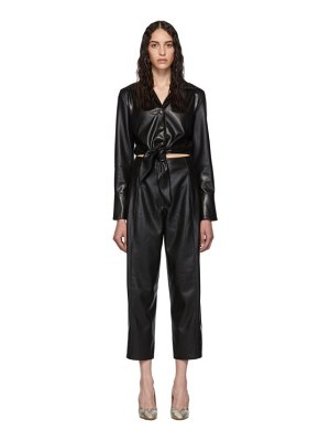 Nanushka vegan leather ana jumpsuit