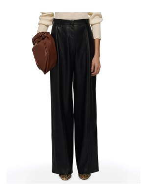 Nanushka Cleo Straight-Leg Vegan-Leather Pants