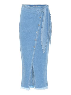 Nanushka Denim side-tie skirt