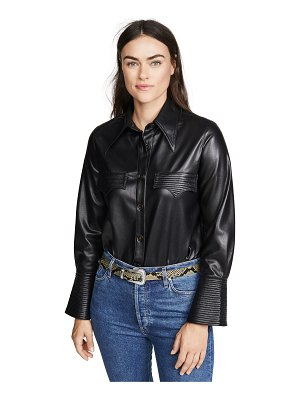 Nanushka elpi faux leather top
