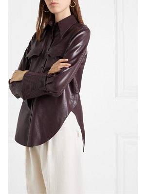 Nanushka elpi vegan leather shirt