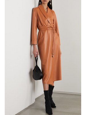 Nanushka emery vegan leather wrap dress