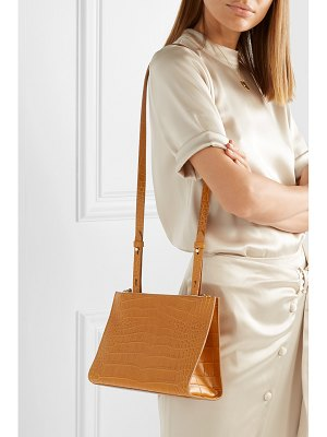 Nanushka izabel croc-effect leather shoulder bag