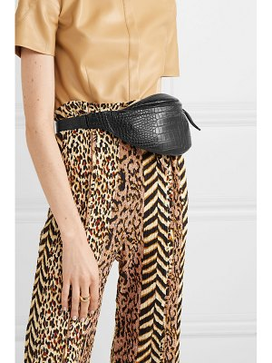 Nanushka lubo croc-effect vegan leather belt bag