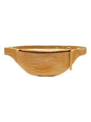 Nanushka lubo embossed faux leather belt bag