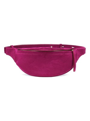 Nanushka lubo velvet belt bag