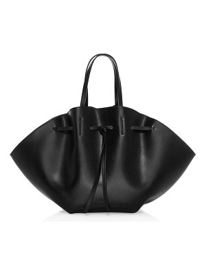 Nanushka lynne leather top handle bag