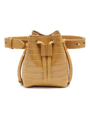 Nanushka minee faux leather leather belt bag
