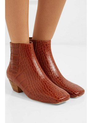 Nanushka salsa croc-effect leather ankle boots