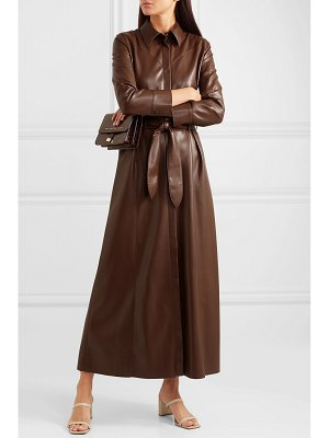 Nanushka taurus vegan leather midi dress