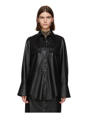 Nanushka vegan leather elpi shirt