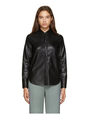 Nanushka vegan leather naum shirt