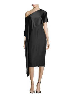 Narciso Rodriguez One-Shoulder Asymmetric-Sash Dress