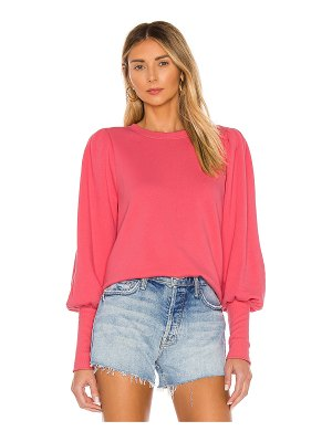 Nation LTD bethany puff sleeve sweatshirt