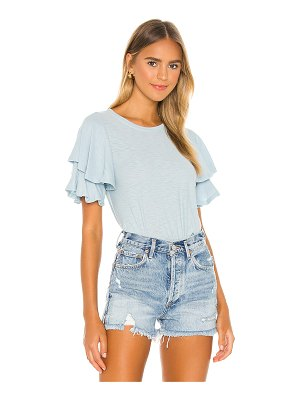 Nation LTD etta ruffle sleeve tee