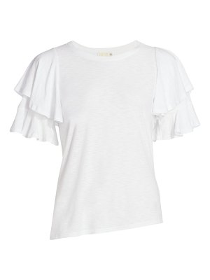 Nation LTD etta slim-fit tier ruffle-sleeve t-shirt