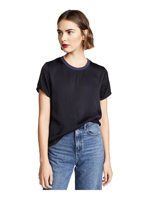 Nation LTD marie sateen boxy crop top