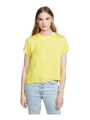 Nation LTD marie sateen boxy cropped tee