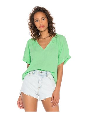 Nation LTD odette rolled peasant shirt