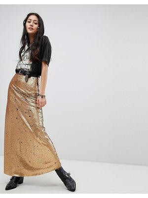 Native Rose festival maxi skirt