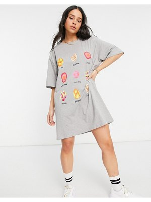 Native Youth big boy oversized t-shirt dress with crystals graphic-grey