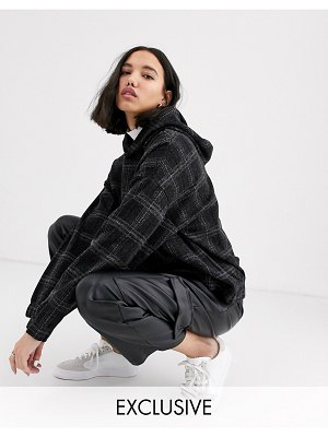 Native Youth exclusive oversized hoodie in check co-rd