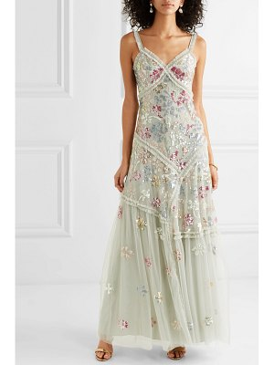 Needle & Thread deconstructed ruffled sequin-embellished tulle gown