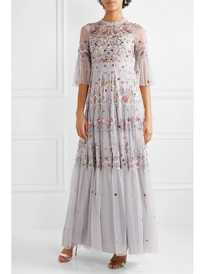 Needle & Thread dreamers embellished embroidered tulle gown