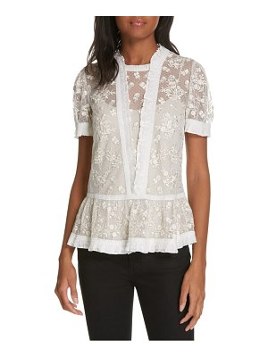 Needle & Thread fortuny lace top