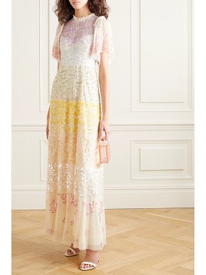 Needle & Thread jasmine hemsley chakra sequin-embellished tulle gown