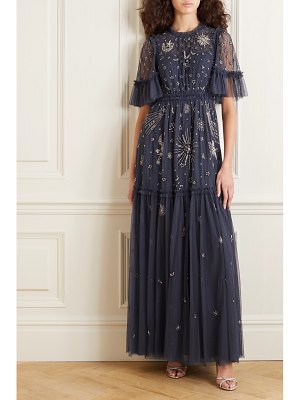 Needle & Thread jasmine hemsley ether embellished embroidered tulle gown