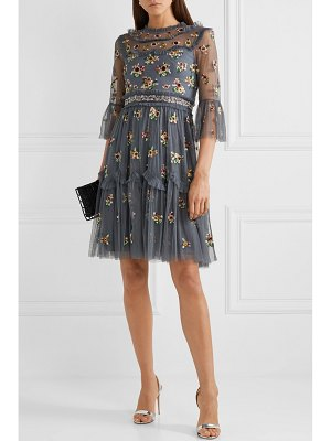 Needle & Thread magdalena embellished embroidered tulle dress