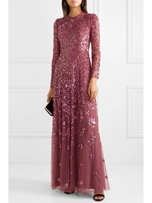 Needle & Thread rosmund sequined tulle gown