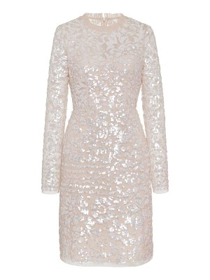 Needle & Thread tempest sequined tulle mini dress size: 10