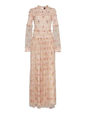 Needle & Thread think of me sequin tulle maxi gown size: 0