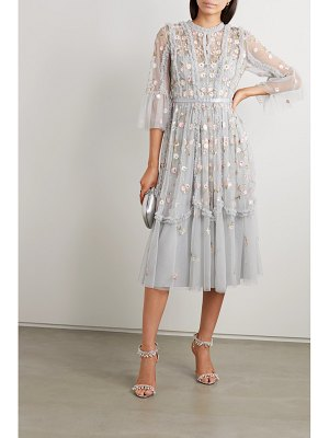 Needle & Thread wallflower ruffled embellished embroidered tulle dress