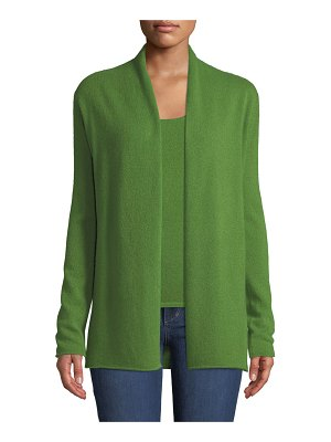 Neiman Marcus Cashmere Collection Cashmere Classic Draped Cardigan