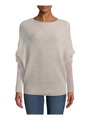 Neiman Marcus Cashmere Collection Cashmere Metallic Dolman-Sleeve Sweater