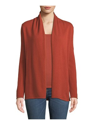 Neiman Marcus Cashmere Collection Cashmere Modern Open-Front Cardigan